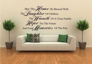 LARGE WALL STICKER VINYL DECAL GIANT QUOTE KITCHEN ART
