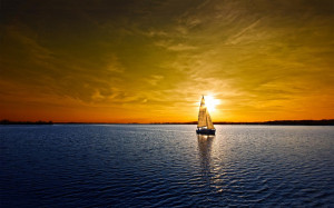 Sailboat lake sunset Wallpapers Pictures Photos Images
