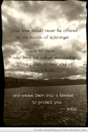 Favorite Hafiz Quote