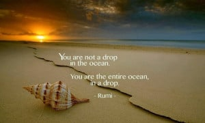 You are not a drop, Rumi Ocean Quotes