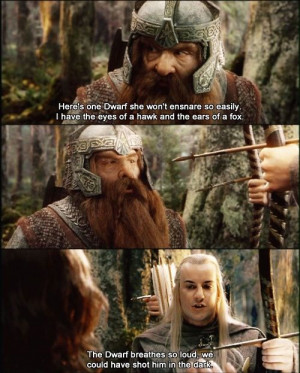 13 funniest quote basically any interaction between legolas and gimli ...