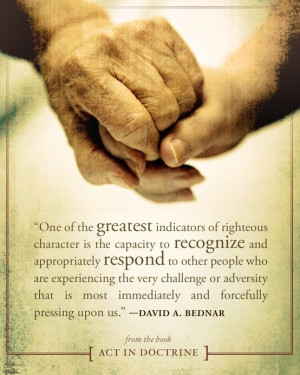 ... reach out to lift those around you who may be going through a similar