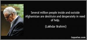 Lakhdar Brahimi Quote