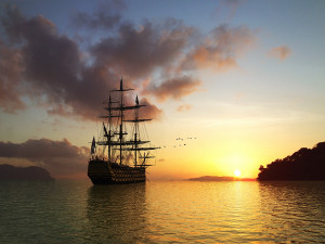 Free 3D Sailing Ship 1600 x 1200 Pixel HD Wallpapers Part_1