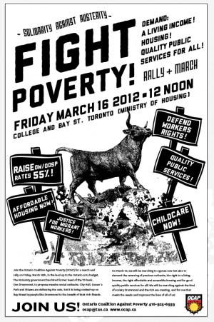 Fight Againts Poverty Poster