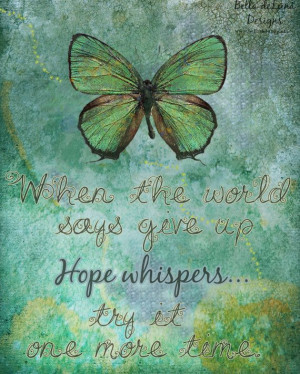 HOPE WHISPERS Inspirational Quote Butterfly Print 8x10 Healing Gift ...