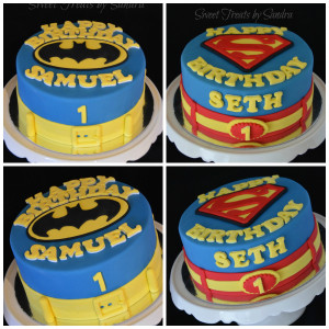 Super Heroes Birthday Cakes for Boys