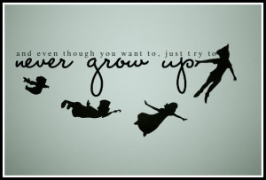 peter pan quotes never grow up