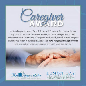 Remember…Nominate YOUR favorite Caregiver this month!!!