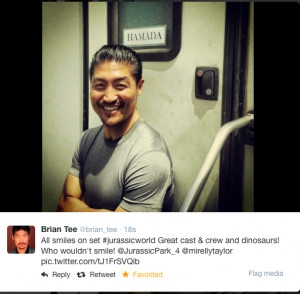 Brian Tee has supporting role in JW playing Hamada.