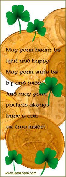 ... irish poem bookmarks more irish poems irish blessed irish prayer irish