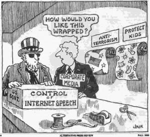 First Amendment Freedom of Speech Political Cartoon