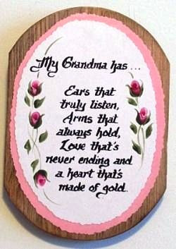 My Grandma Verse on Wooden Plaque