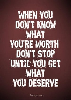 What youre worth quote