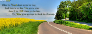 Road Quote Facebook Cover Preview