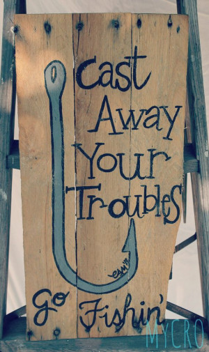 Cute handpainted hook and fishing quote on an upcycled by MyCRO, $30 ...