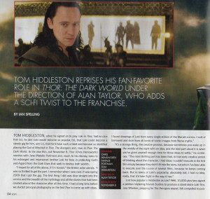 Loki Mania! (Alan Taylor also quoted about Thor 2, interesting quotes ...