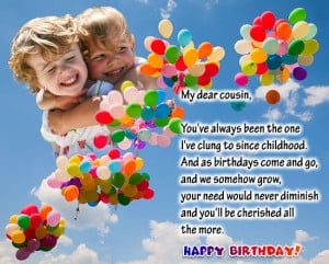 ... happy birthday cousin cards happy birthday cousin happy birthday