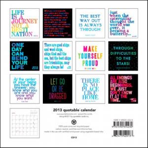 Color Quotes – 2013 Mini Calendar