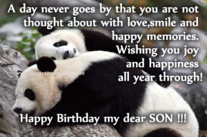 ... , picture quotes for son, birthday blessings for son, birthday cards