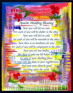 Wedding Apache Blessing