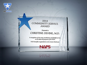Community Service Award Plaque