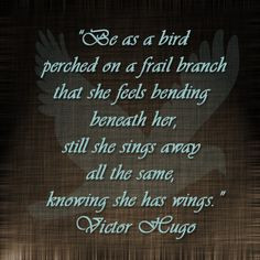 Victor Hugo quote @ Three Cornered Hug