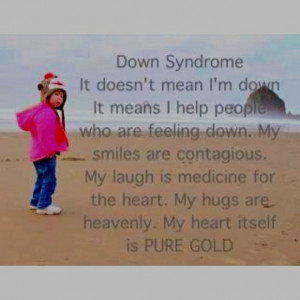 Down Syndrome. This great poster! I work with people with a variety of ...