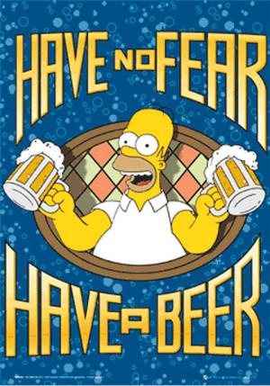 Póster efecto 3D Homer Simpson Cerveza