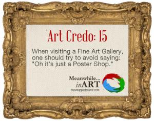 Art Credo: 15 Poster Shop