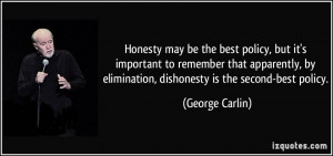 Honesty may be the best policy, but it's important to remember that ...