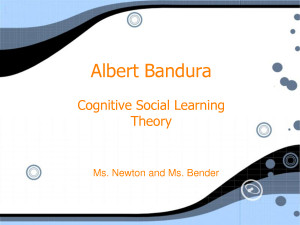 Albert Bandura - PowerPoint