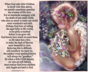 His love. for no heartache compares with the death of one small child ...