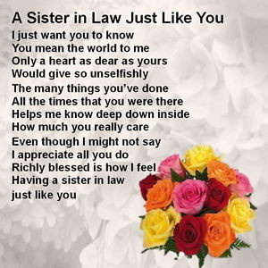 Sister Law Poems Ebay Itm Personalized