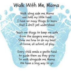 Gave this poem with our son's footprints to Daddy for Father's Day ...