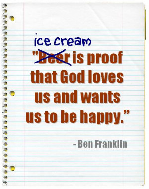 Famous Quotes About Ice Cream
