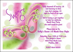 Mardi Gras Sweet 16 Birthday Invitations areBecoming Very Popular!