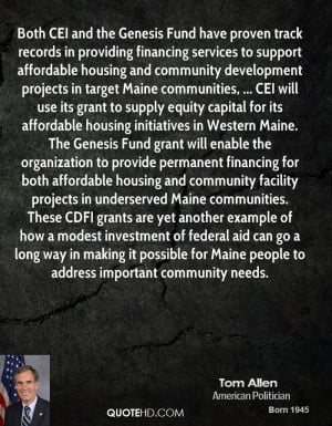 projects in target Maine communities, ... CEI will use its grant ...