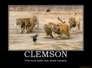 CLEMSON - That much better than South Carolina.