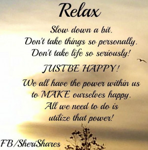 Just Relax Quotes Relax Quote Via Www