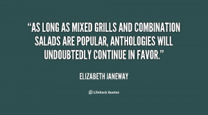As long as mixed grills and combination salads are popular ...