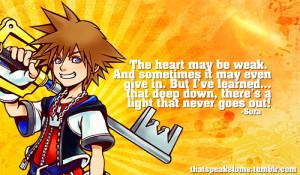 Kingdom Hearts # Sora # Quotes # Inspirational # videogames