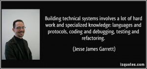 ... coding and debugging, testing and refactoring. - Jesse James Garrett