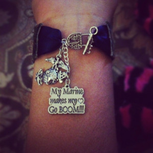 Marine Girlfriend Tattoos Marine girlfriend bracelet :)