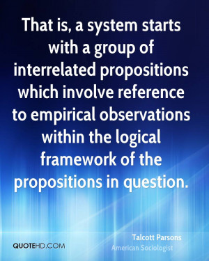 ... empirical observations within the logical framework of the