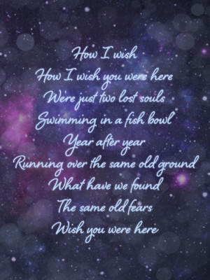 - Wish You Were HereFavorite Pink, Lyrics Ii, Lost Soul, Music Quotes ...