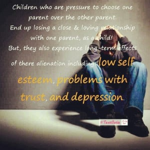 Parental alienation is child abuse and a sin. See Dee Whisler