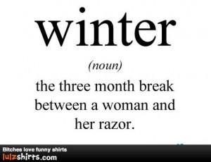 hate winter.