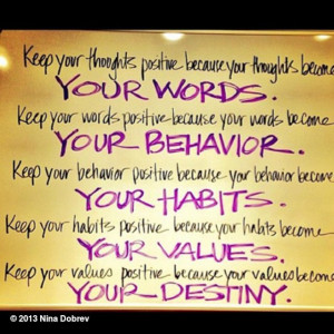 Picture Quote of the Day... Your thoughts control your destiny.. #fact