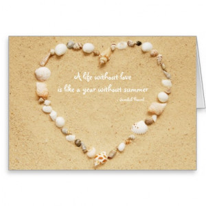 Seashell Heart Love Quote Card